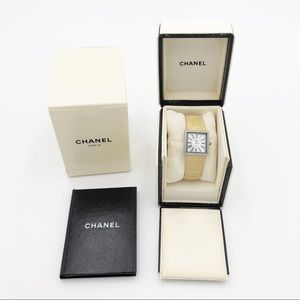 CHANEL Beige Strap Mademoiselle Watch